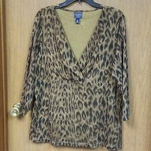 Chaps leopard top